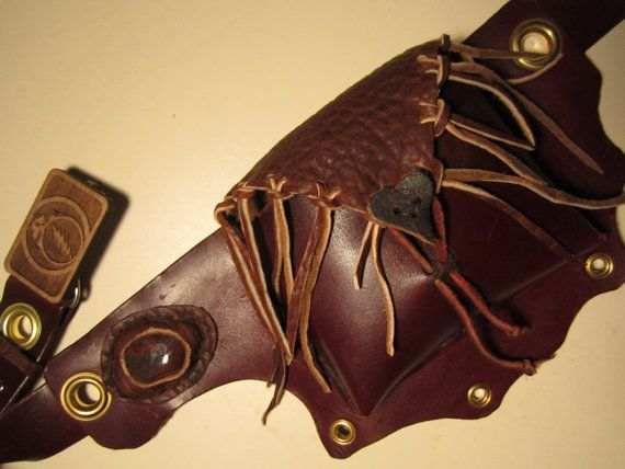 Hand Made Leather UTILITY BELT YOUTH (xs adult), Free Shipping!, w/ Steal your Face Grateful Dead Head Wood Buckle, Buffalo, Heart, Mineral