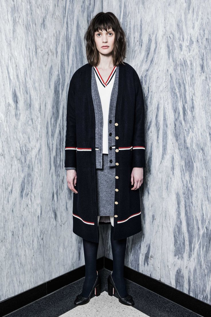 Thom Browne Pre-Fall 2016 Fashion Show  use Butte jkt slate tee, slate linen pants