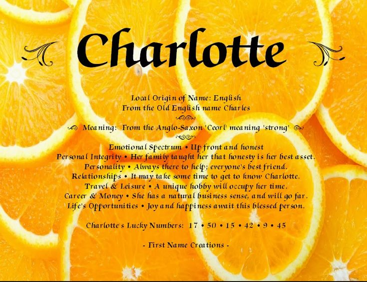 Charlotte name meaning | What does my name mean ...