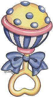 sonajeros para baby shower-Imagenes y dibujos para imprimir