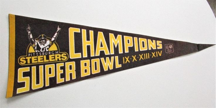VTG Pittsburgh Steelers Super Bowl Champions XIV Pennant Official NFL Football