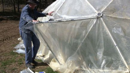 10' 2v Standard Geodesic Dome Greenhouse Kit for Sale - by Zip Tie Domes