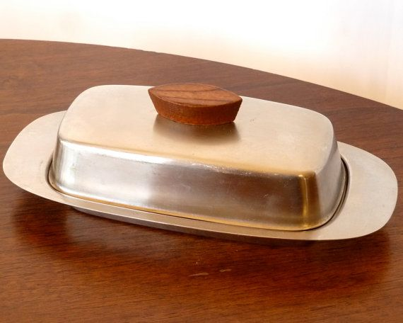 Mid Century Danish Modern Butter Dish  by ModLoungeVintage on Etsy, $11.00