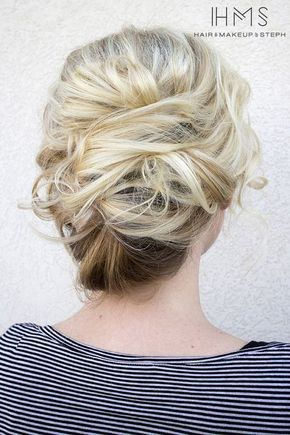 wedding updo hairstyle via Hair and Makeup by Steph 6