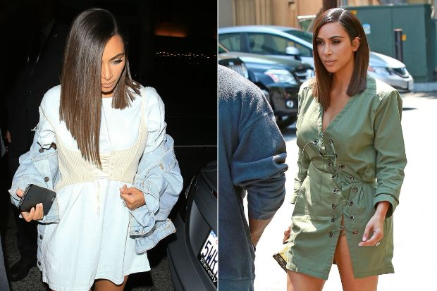 "like this hair style: nothing fancy or extravagant, which is what I like about it. Super simple but also sleek and fashionable. Not ""mom"" hair, but more manageable than the mane   Breaking Hair News: Kim Kardashian Debuts Short, Sleek Haircut"