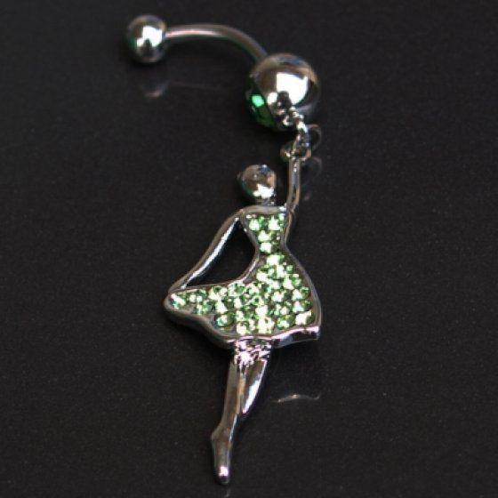 Piercing táncos lány zöld