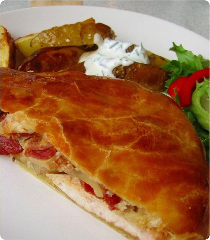 Indbagt kylling med ananas og bacon ♥ jegelskermad.dk