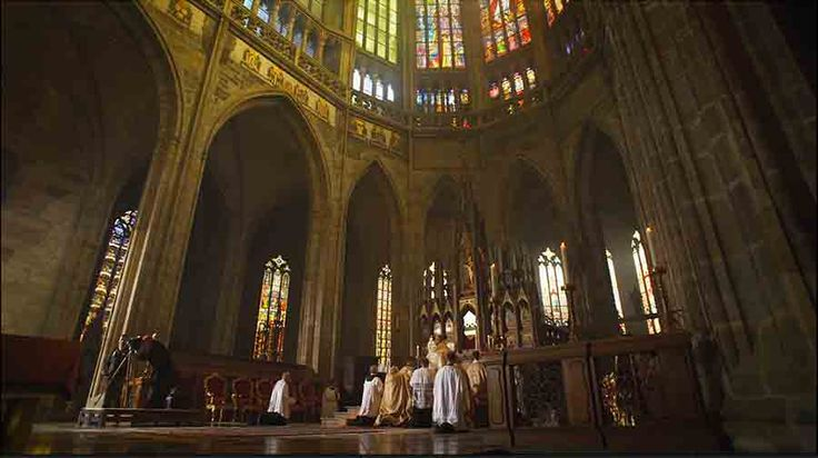 """Opening scene from the television drama """"Killing of a Comrade"""" filmed by Cameraman in Prague.   http://taylor-film.com/killing-comrade/  #te deum #mass"""