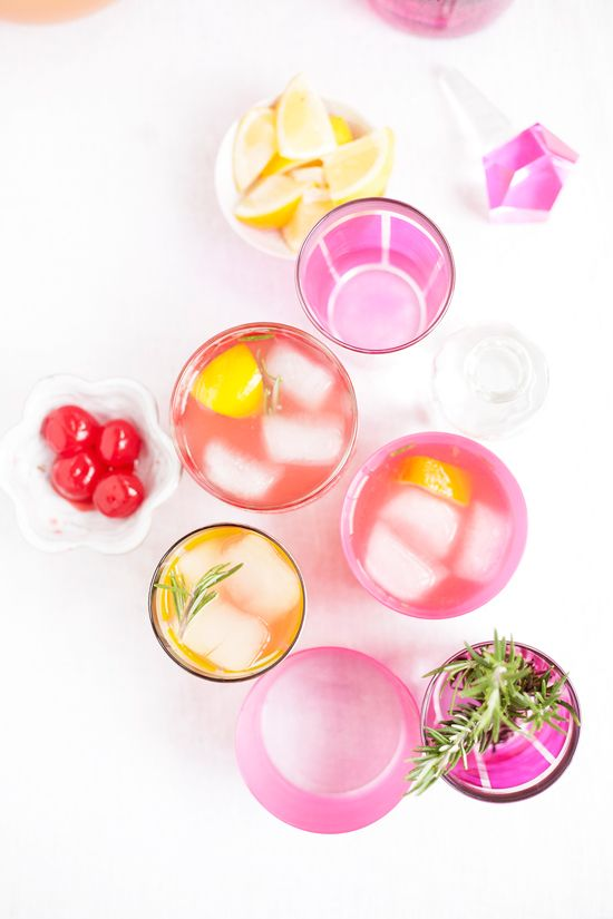 Colorful cocktails.