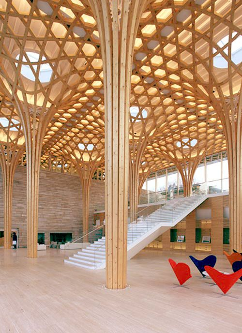 Haesley Nine Bridges Golf Clubhouse on Jeju Island, South Korea by Kyeong Sik Yoon and Shigeru Ban