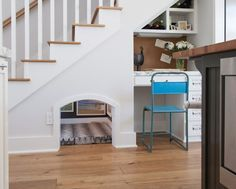 60 Unbelievable under stairs storage space solutions  Love the doggie/cat or kid space under the steps!