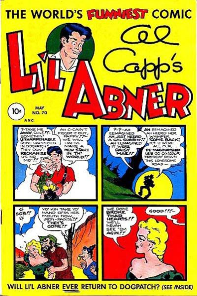 LI'L ABNER #70 G, AL CAPP'S, Little, Pen Marks on cover, Toby Comics 1949
