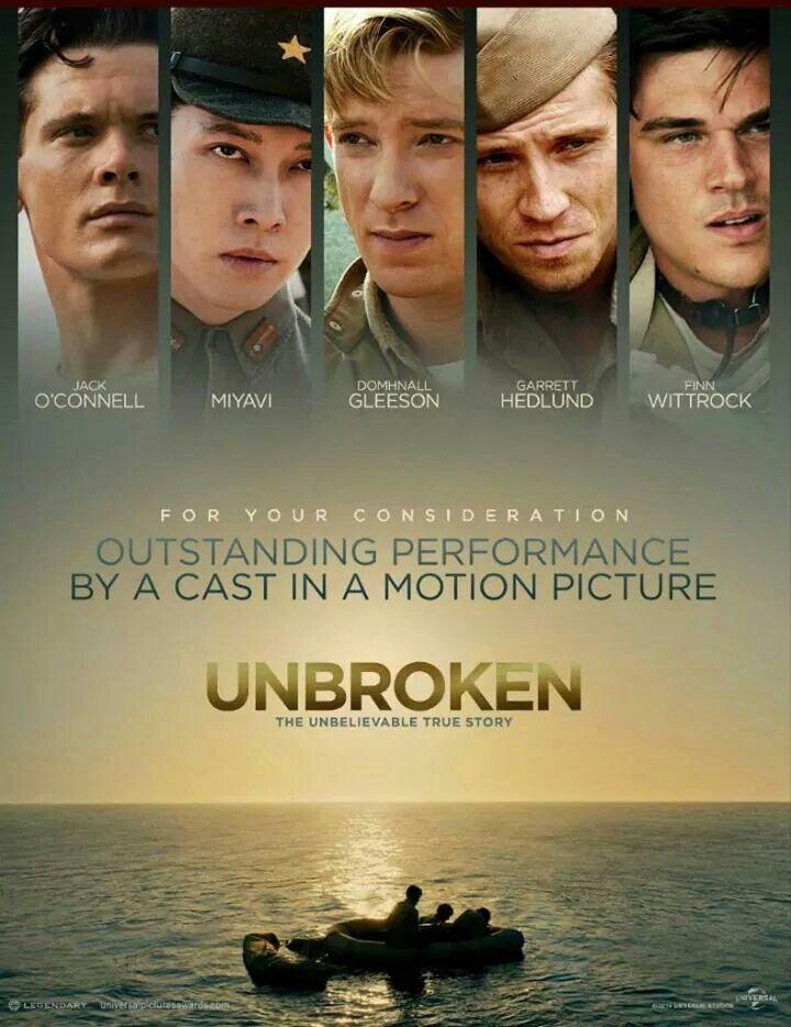 Unbroken (Invincible) - Angelina Jolie, 2014 - Jack O'Connell, Takamasa Ishihara, Domhnall Gleeson, Finn Wittrock, Garrett Hedlund