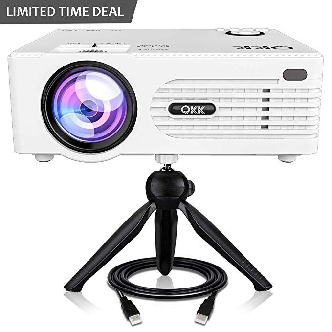 Qkk 2400 Lux Mini Projector Full Hd Led Projector 1080p Supported 50 000 Hour Lamp Life With 170 Disp Mini Projectors Best Portable Projector Best Projector