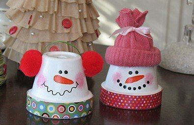 чччччччч (395x255, 28Kb)Snowman Ornaments, Terra Cotta, Crafts Ideas, Christmas Crafts, Snowman Crafts, Kids Crafts, Flower Pots, Winter Craft, Clay Pots