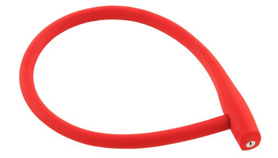 Kransky: Red.   Length: 880mm. Cable Diameter: 22mm. Silicone overmoulded braided steel cable with fibre core offering superior resilience and flexibility.  http://www.knog.com.au/gear-locks/kransky.phps#