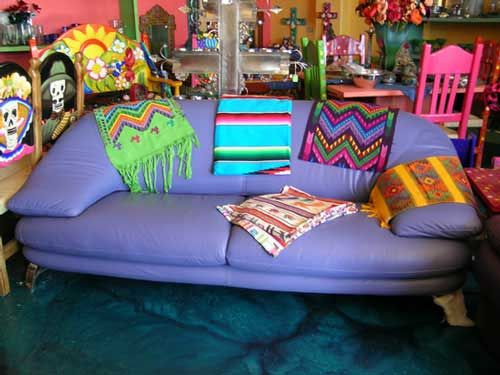 funky style furniture. Brightly Painted Wood Furniture | Que Chula Style Mexican Goods ABQ - Colored Leather Funky R