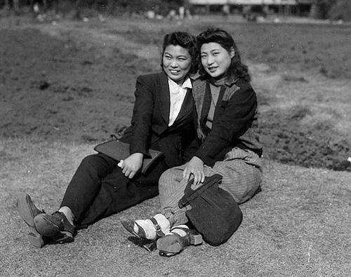 Two Girls - Tokyo 1945  In the summer of 1942, the U.S. Army called up a skinny California boy barely out of his teens. But at 5'9'' and 125 pounds, Private Glenn W. Eve was deemed unfit for combat.    He might have spent the duration of World War II at a desk, except that he had field skills the Army needed – he was a gifted artist, draftsman and photographer who'd spent the previous four years working for the Walt Disney Co.
