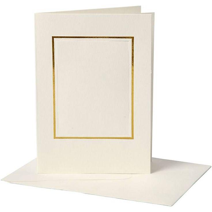 KARTEN und Zubehör / Cards 10 Passepartoutkarten , Kartengröße 10,5x15 cm…