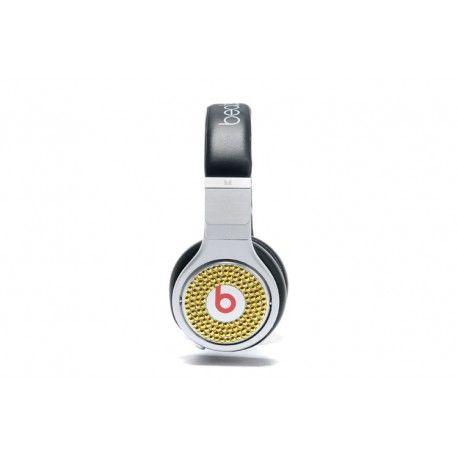 $166.95 #jet #beatsbydre #love #music #song #hiphop   beats by dr. dre beats pro http://bbdphones.com/268-monster-beats-by-dr-dre-pro-white-black-headphones-with-gold-diamond-on-sale.html