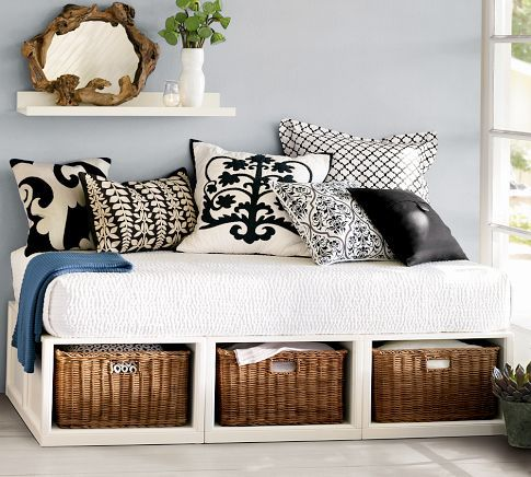 Daybed with storage - for the game room.