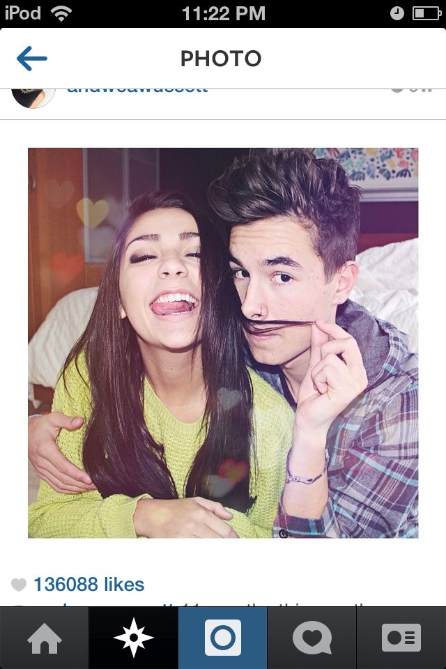 how did andrea russett and kian lawley meet great