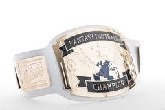 White/Gold Fantasy Football Trophy Belt