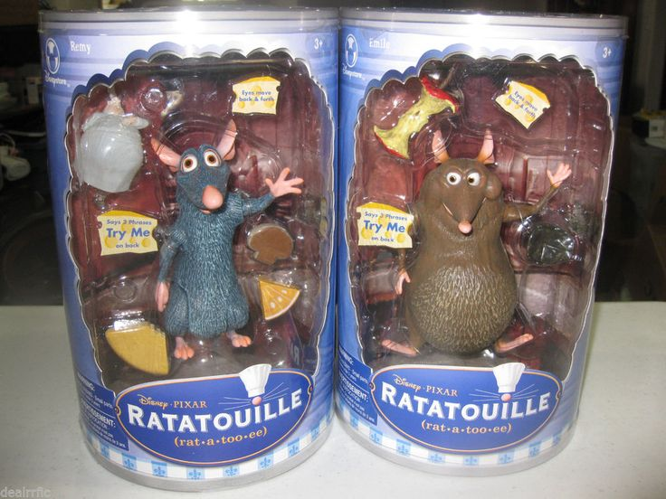REMY & EMILE Talking Action Figures Pixar's RATATOUILLE Disney Store New in Pkgs | The perfect gift for Ratatouille fans | 7 inch tall talking figures | Hard to find Disney Store Collectible Toys | New in Separate Packages | A favorite with collectors and enthusiasts alike #ratatouille #remy #greatgift