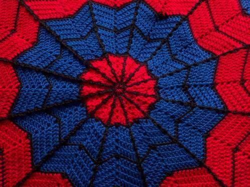 Spiderman blanket - CROCHET