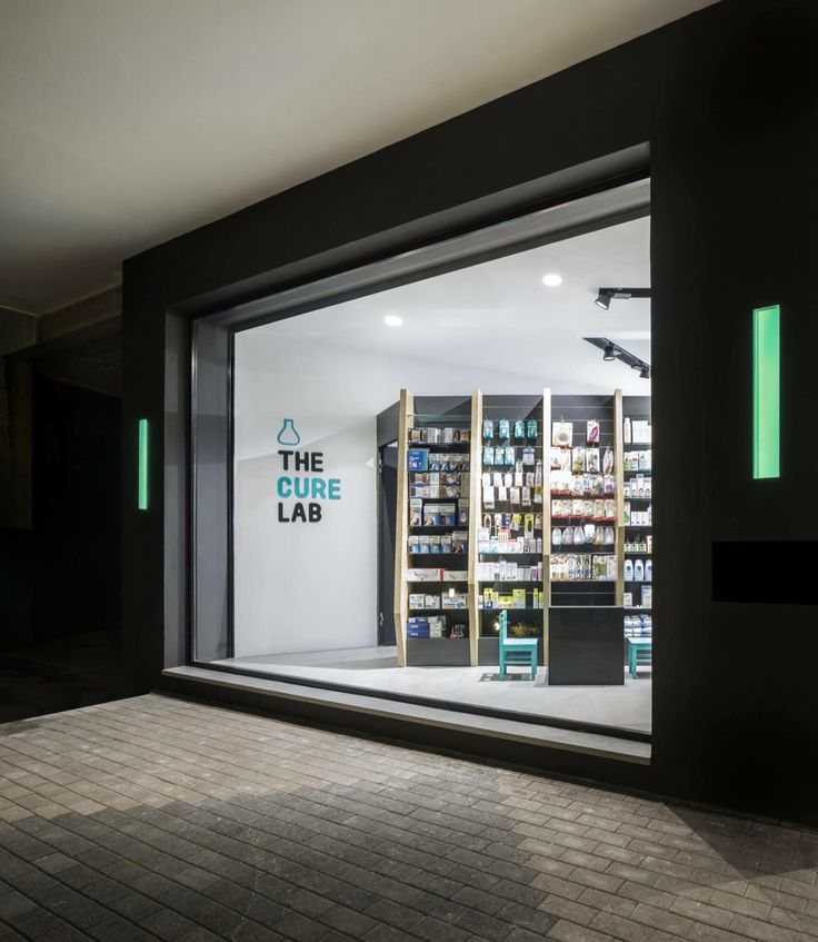 Cure and Care / Pharmacy Shop / Athens / Pharmacy Design / Retail Design / Store…