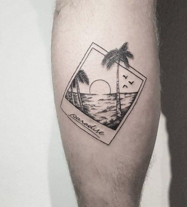 40 Beach Themed Tattoos To Chase Away The Winter Blues Beach