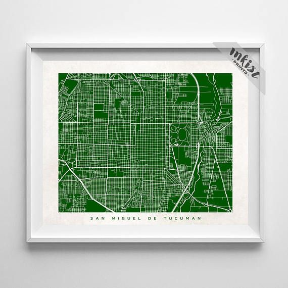 San Miguel de Tucuman Map, Argentina Print, San Miguel de Tucuman Poster, Argentina Art, Office Wall Art, Decorations, Christmas Gift, Wall Art. PRICES FROM $9.95. CLICK PHOTO FOR DETAILS. #inkistprints #map #streetmap #giftforher #homedecor #nursery #wallart #walldecor #poster #print #christmas #christmasgift #weddinggift #nurserydecor #mothersdaygift #fathersdaygift #babygift #valentinesdaygift #dorm #decor #livingroom #bedroom