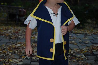 Jake and the neverland pirates costume tutorial.