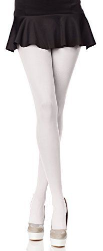 Merry Style Femmes Opaque Collants Microfibre 40 DEN (Blanc, 4 (40-44)): Tweet Collant ultra confortable, souple et lisse. Le tissage en…