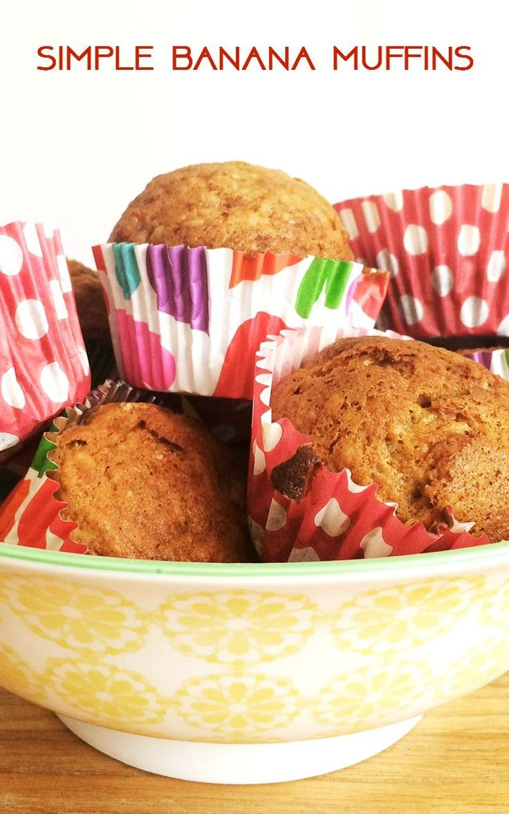 Super simple banana muffin recipe - a lovely and easy way to use up leftovers.  A great leftovers recipe to reduce food waste and really the most delicious muffins.