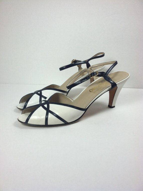 Vintage Salvatore Ferragamo White Sandals / by mustlovevintage