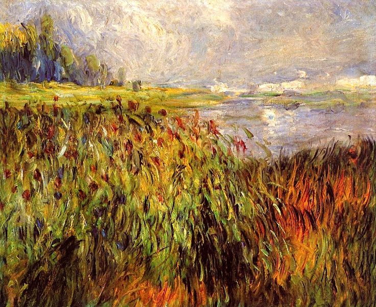 Bulrushes on the Banks of the Seine  / Pierre Auguste Renoir - 1874