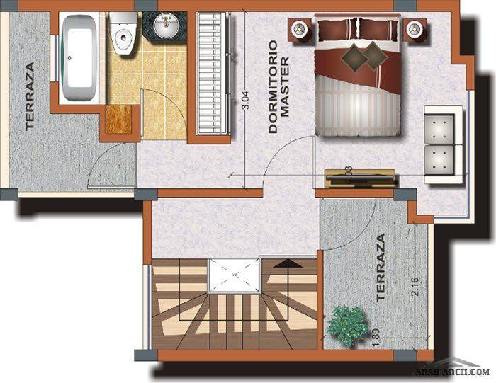 مخطط أفضل منزل صغير المساحة الارض 90 متر مربع 3 غرف 2 حمام Arab Arch Home Decor Design Home