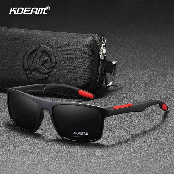 KDEAM Men Polarized Sport TR90 Sunglasses Women Outdoor Driving Summer Glasses