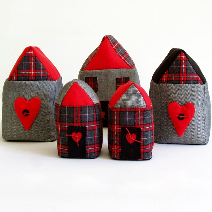 Door stop, bookends and table decorative village with houses
