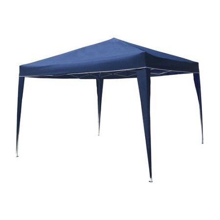 Aleko GZDW10X10BL 10' x 10' Foldable Gazebo Tent Canopy for Outdoor Events, Blue