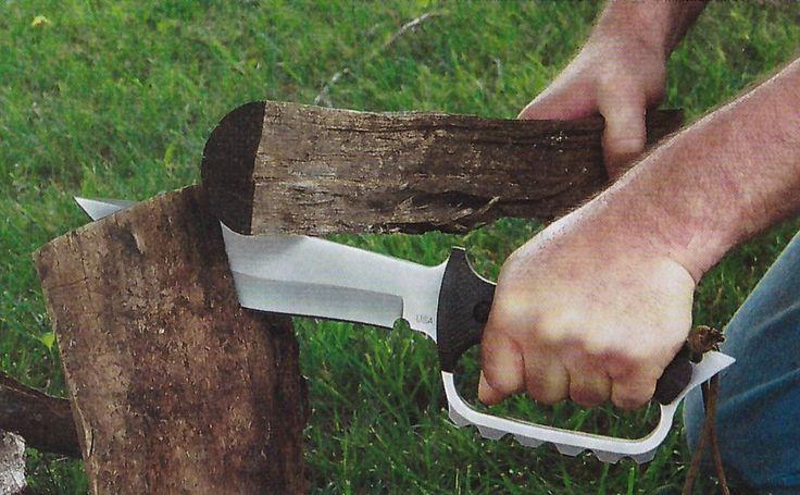 Рубит как дровосек! Нож Combat Fighter от мастера Джима Беринга блестяще прошел все испытания.