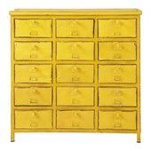 Commode cabinet indus  jaune - Edison