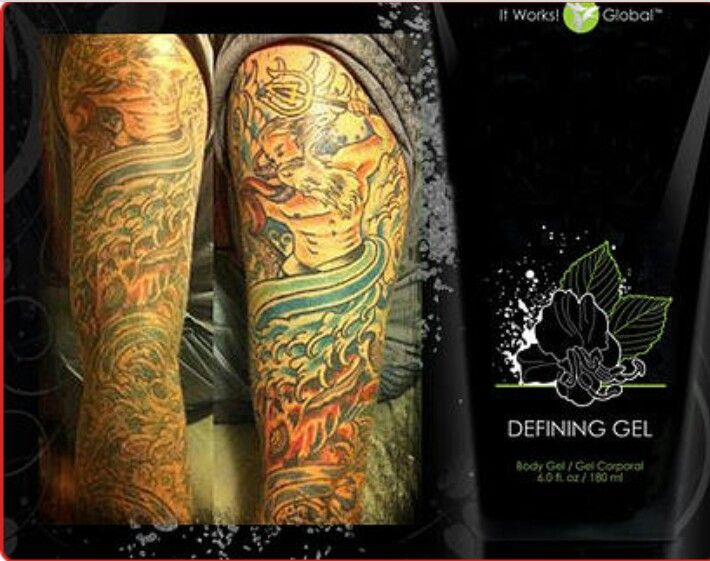 Bring new life to faded tattoos or keep new tattoos looking as bright as the day you got it. It Works! Defining Gel can do it!