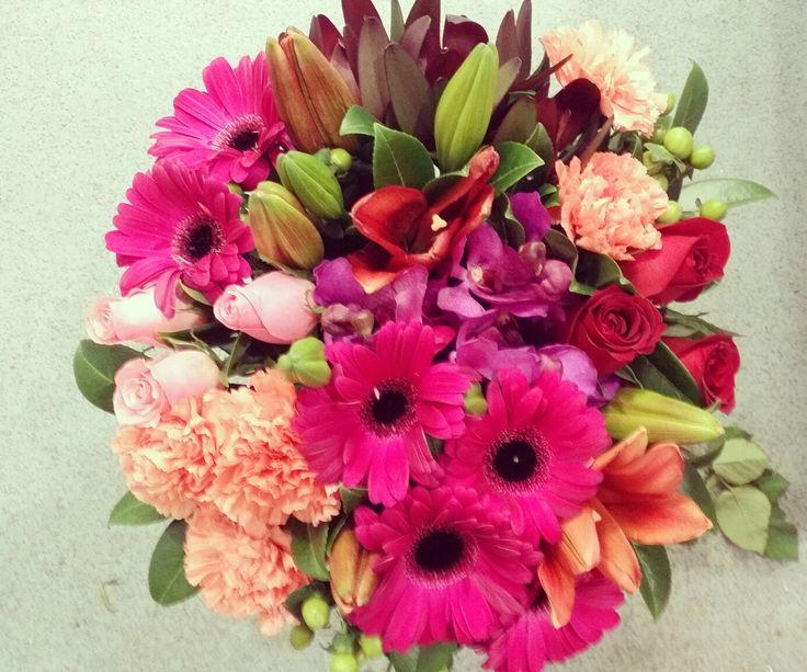 Pink flower bouquet  www.thepaperroseflorist.com.au