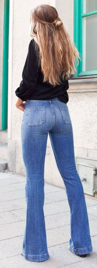 25  best ideas about Bell bottom jeans on Pinterest | Flare ...