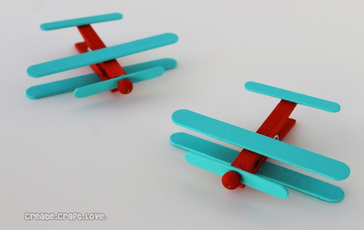 airplane party favors | Clothespin Airplanes {Party Favors} - Create Craft Love