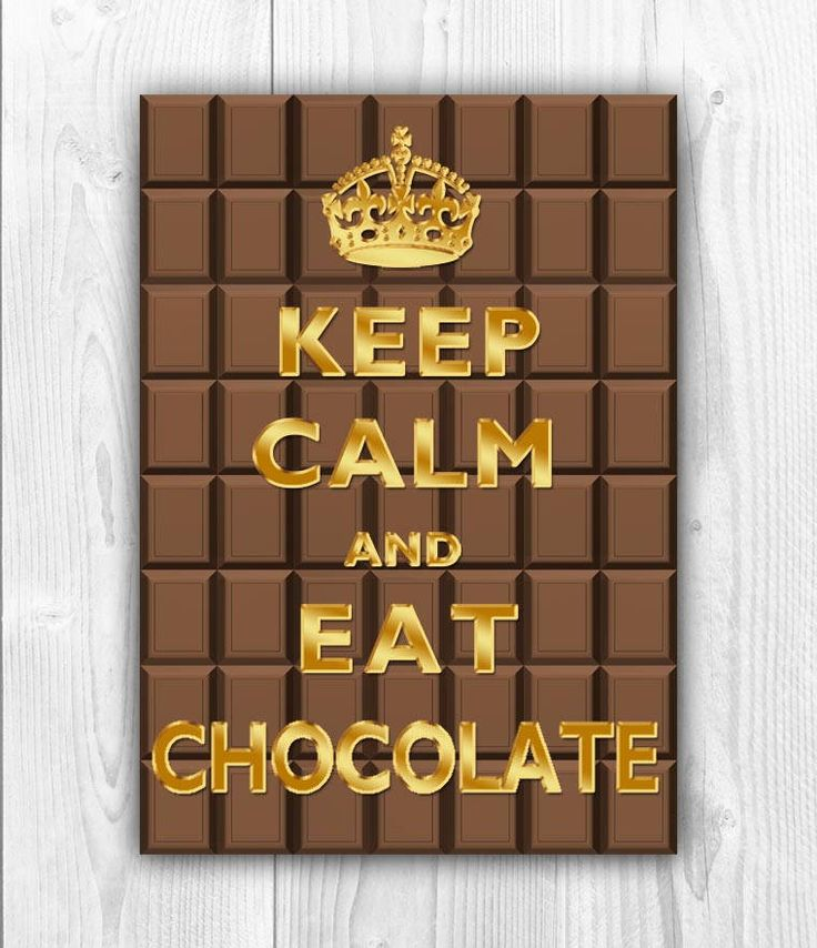 Keep Calm Art, Keep Calm Print, Keep calm poster, Keep Calm eat chocolate, Chocolate Art, Chocolate Poster, Faux Gold print, Keep calm by DigitalArtLand on Etsy
