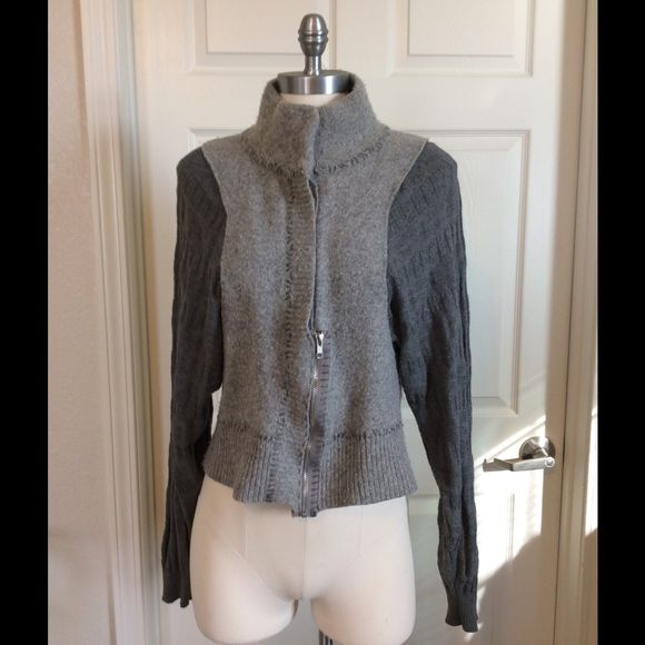 Free People Funky Cool Jacket Free people gray jacket this is a really fun jacket the details are great it's versatile and can be worn layered. The pictures can explain the details much better than I can size large in my opinion it fits like a medium so I am going to list it is a medium. Free People Jackets & Coats