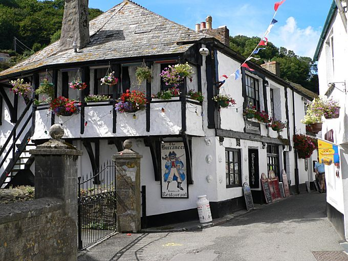 Buccaneer pub Polperro - had the best bacon sandwich here... with a Guinness...